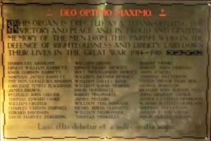 BPC FWW Memorial Plaque