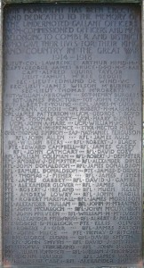 Comber War Memorial FWW died