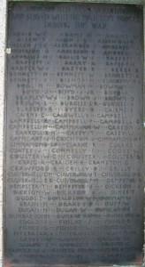 Comber War Memorial FWW served 1