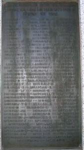 Comber War Memorial FWW served 2