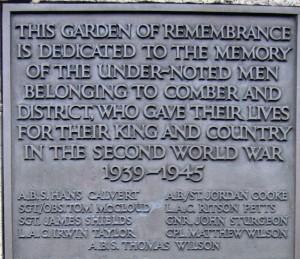 Comber War Memorial SWW died