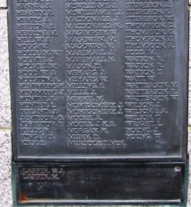 Comber War Memorial SWW served 3
