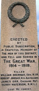 Groomsport War Mem FWW dead