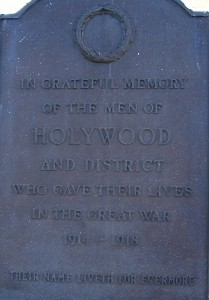 Holywood War Memorial FWW1