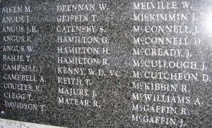 War Memorials 070 Donaghadee WW1 croppeda