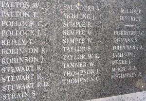 War Memorials 071 Donaghadee WW1 croppeda