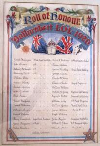Ballyrobert LOL 1920 served