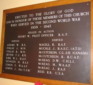 Carrowdore Presby Church SWW