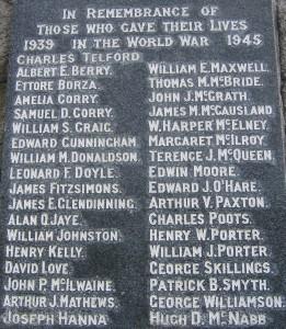 Downpatrick War Memorial SWW1