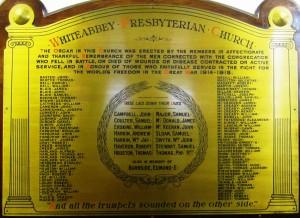 Whiteabbey Presbyterian Church FWW