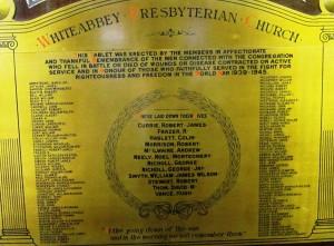 Whiteabbey Presbyterian Church SWW
