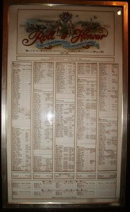 Bangor Town Hall Roll of Honour
