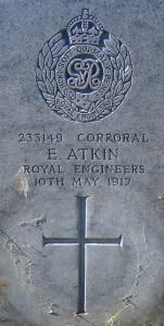 Cloughey Presbyterian Graveyard Atkin headstone