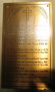 Helens Bay C of I plaque