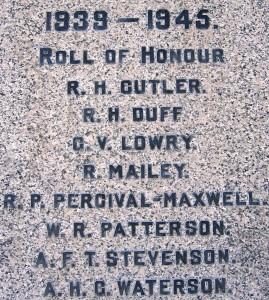 Groomsport War Mem SWW dead
