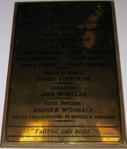 Newtownards Regent Street Methodist FWW died