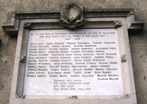 Killyleagh War Memorial FWW