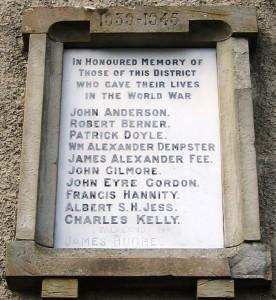 Killyleagh War Memorial SWW 1