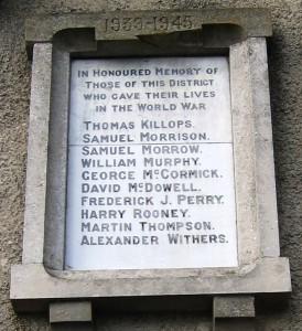 Killyleagh War Memorial SWW 2